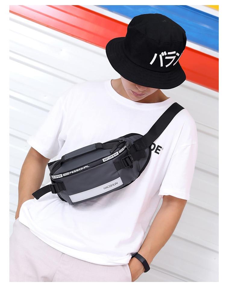 Nova moda ao ar livre correndo saco