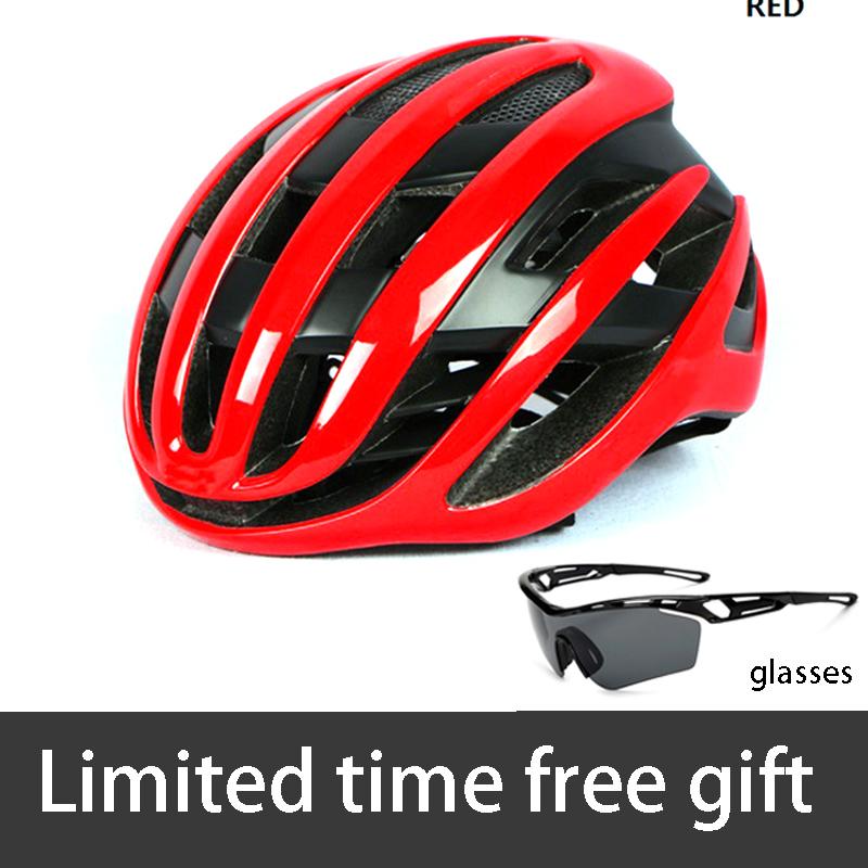Red Model Air Cycling helmet Racing Road bike Helmet MTB mountain Aerodynamics Aero Helmet bicycle helmet ABO Casco Ciclismo