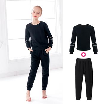 Moda dla dziewcząt nastolatek dres dorywczo odzież do joggingu dzieci dwuczęściowy strój sportowy garnitur odzież tanie i dobre opinie daydance Dziewczyny Pasuje mniejszy niż zwykle proszę sprawdzić ten sklep jest dobór informacji Stałe Oddychające