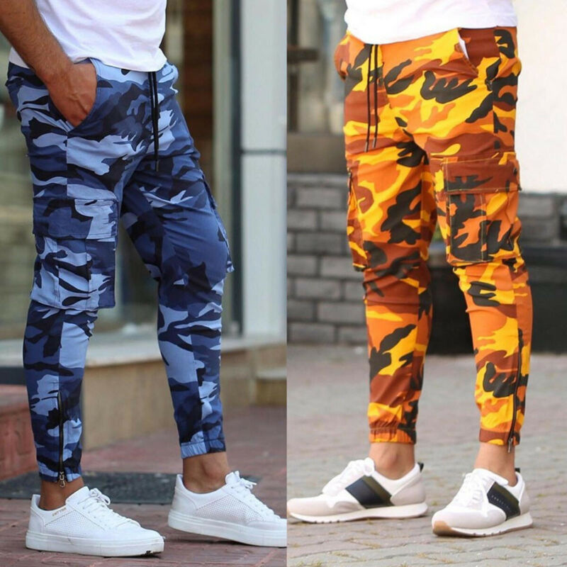 2020 New Joggers Men Hot Sale Casual Camouflage Pants Men Elastic Comfortable Trousers Men Camo Harem Pants