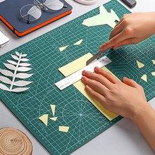Alfombrilla de corte de Pvc de doble cara, almohadilla cortada de retales de Color A2 y A3, herramientas manuales de bricolaje, tabla de corte, autocuración