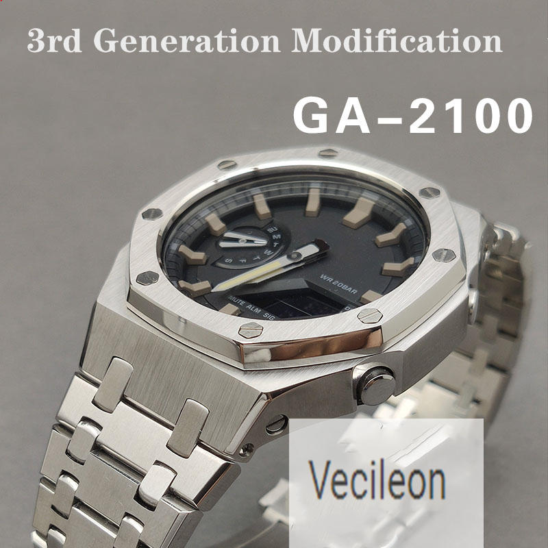 Modification-Generation-Watchband Bezel Stainless-Steel-Accessories Ga2100 3rd GA-2110