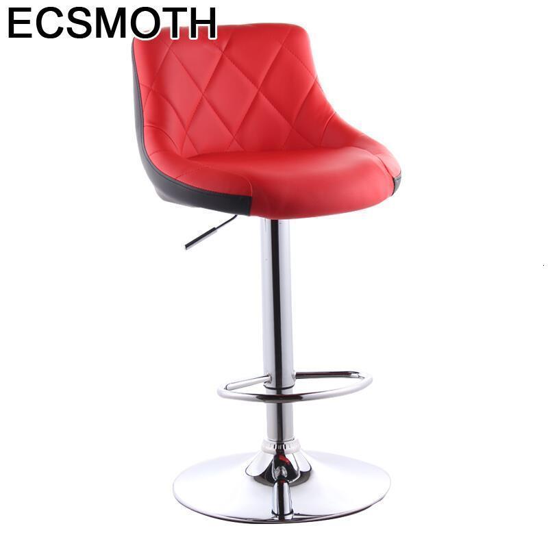 Sedia Para Barkrukken Tabouret Comptoir Stoelen Banqueta Taburete De La Barra Leather Cadeira Stool Modern Silla Bar Chair