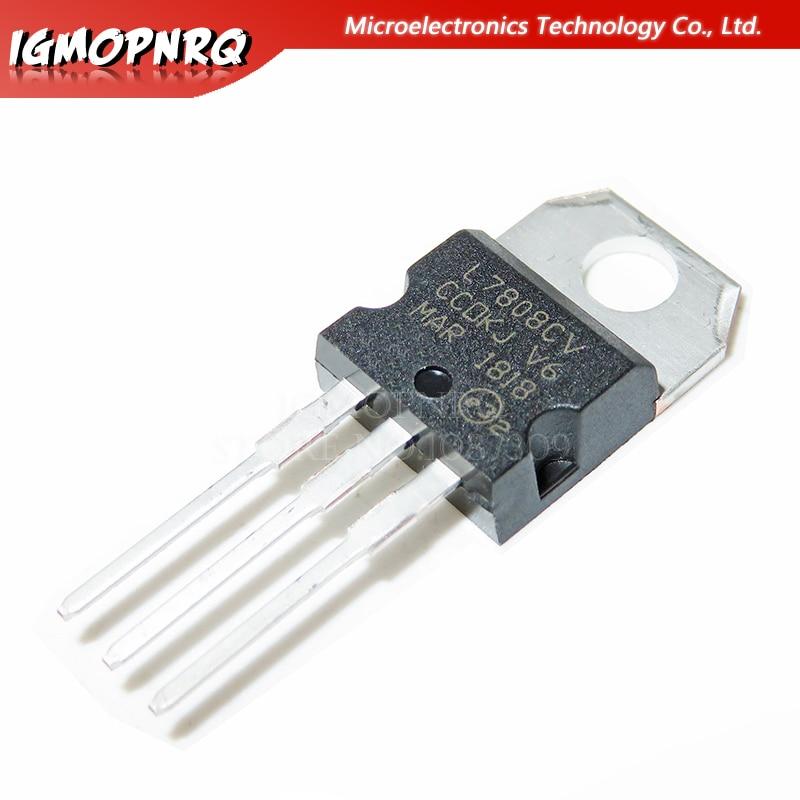 10pcs L7808CV L7808 7808 LM7808 MC7808 TO-220 New Original