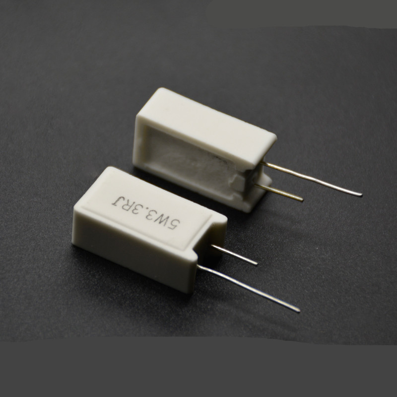 10pcs RX27-5 SQM Vertical Cement Resistor Resistance 5W 0.02R-100K Ohm Ceramic Copper Foot