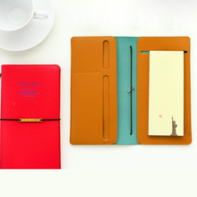 PU Leather Strap Travel Notepad Note books Diary Memos Journal Planner Organizer Stationery Office Supplies hua jie a4 composition books leather pu notebook business daily memos 200 sheets personal organizer notepads lined journal book
