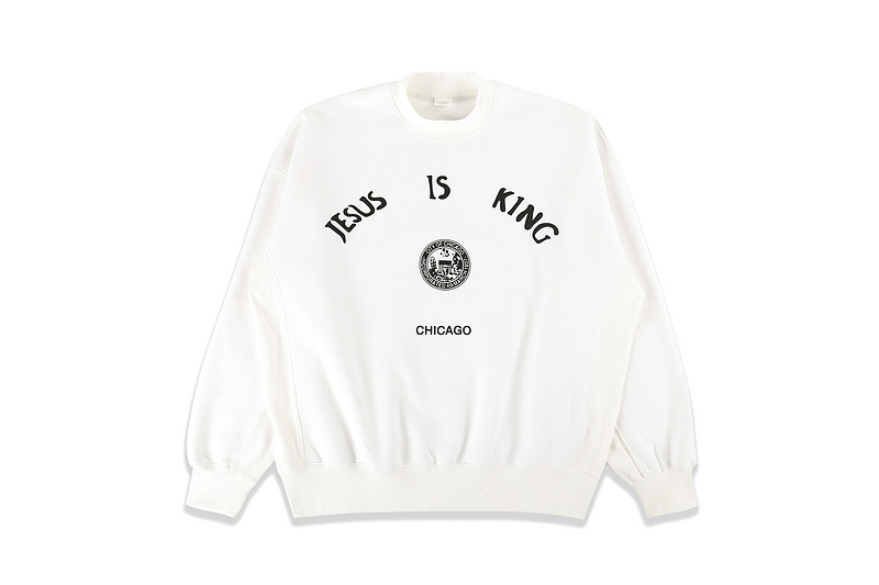 High QualityJesus Is King Sweatshirts Men Women Kanye West Chicago Printed Sweatshirts Men Women Crewneck Hoodie