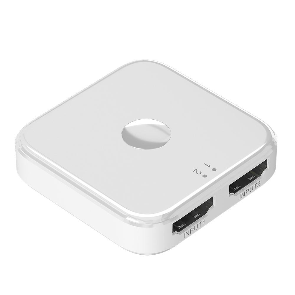 2 Port HDMI Switch Bi-Directional 1x2 2x1 3D 4K HDMI Switcher Lightness Portability Convenient Carrier For Xbox PS4