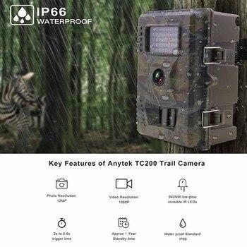 940nm Infrared PIR Sensor 0.8s 12MP HD 1080P Waterproof Night Vision Digital Hunting Camera Wildlife Photo Traps Video Camera