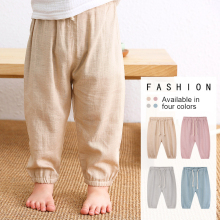 Children's Cotton And Linen Trousers Spring And Summer Thin Boys And Girls Linen Pant Baby Harem Pants WT620