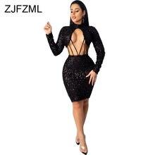 Сексуальные облегающие платья с вырезами на талии женское черное