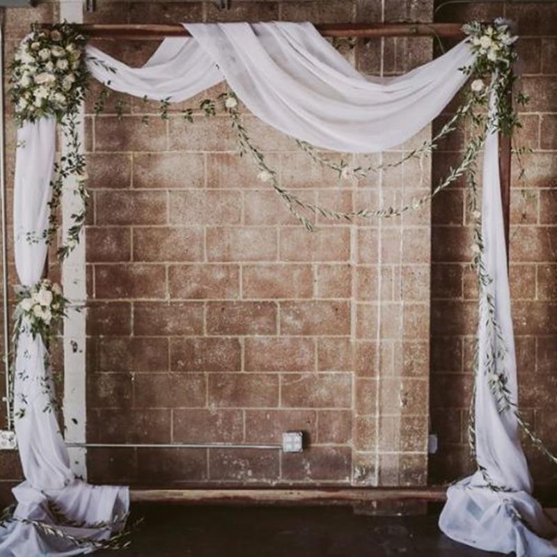 2019 Fashion 55*235 Inch Black Burgundy Brown Chiffon Fabric Vintage Clothing Fabric For Wedding Dress Customize 44 Colors