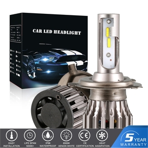 H4 Car LED Headlight Turbo Fan Blubs H7