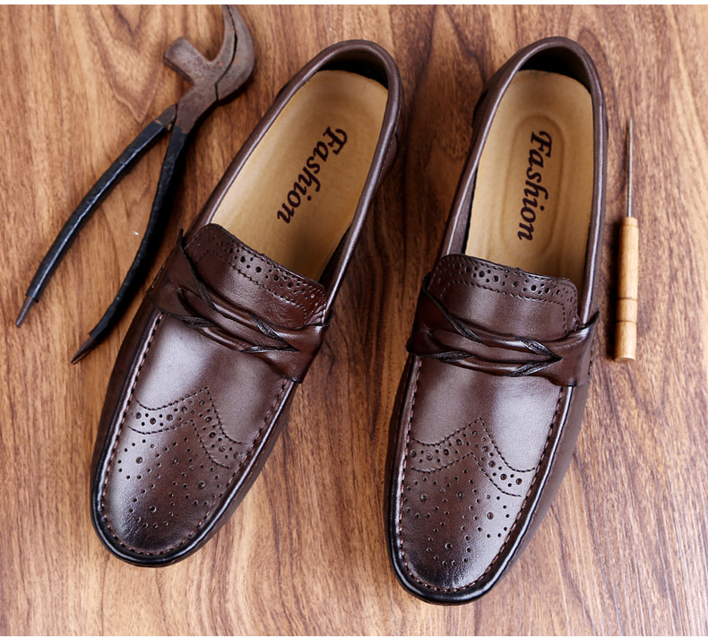 Hc32f6f4d41fa4a3b9499da36a789a808a Men Loafers Shoes Genuine Leather Casual Sneakers Male Fashion Carved Boat Footwear Soft Dress Party Shoes Men Chaussure Homme
