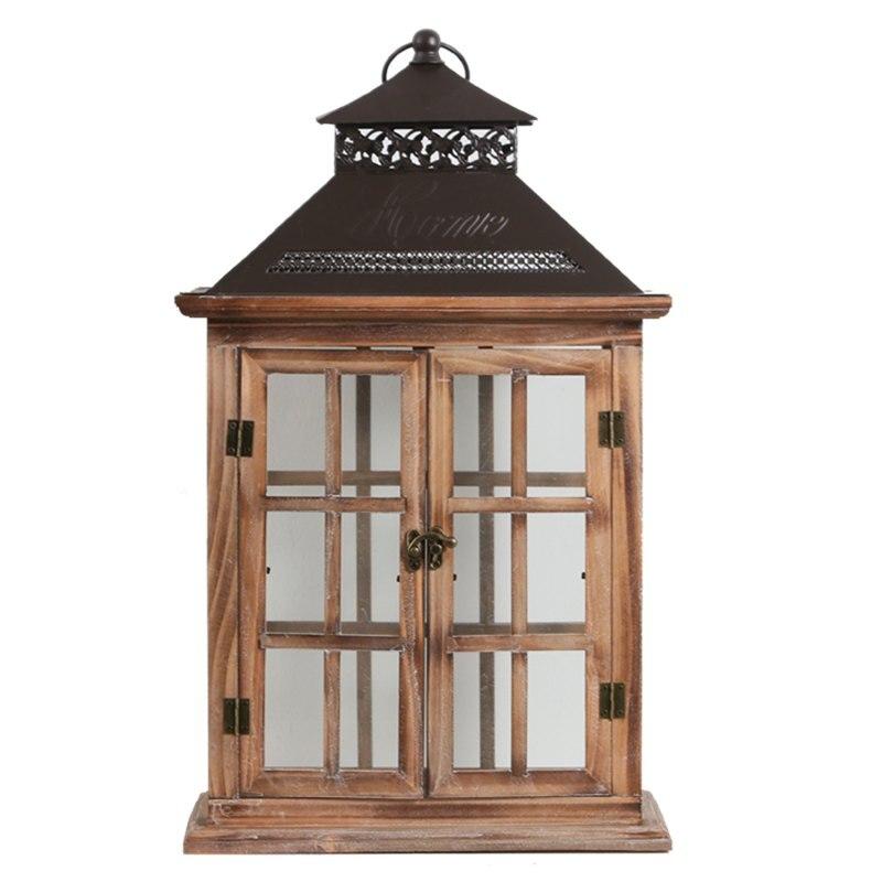 Rétro chinois bougeoir en bois créatif romantique chandelier coupe-vent salon Portavelas chinois décoration de la maison MM60ZT