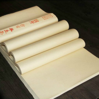 100 Sheets Raw Xuan Paper Calligraphy Rice Paper Rijstpapier Papel Arroz Chinese Painting Half-Ripe Xuan Paper Riso Rp
