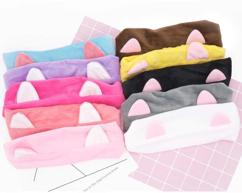 Kawayii orejas de gato Rosa pelo diario pelo de invierno diademas para mujeres baño maquillaje fiesta diadema accesorios regalo vacaciones tocado