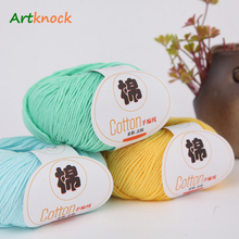 50g/ball 100% cotton yarn for crochet hand knitting sweater warm high quality