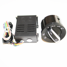 ELISHASTAR Auto Light Sensor With Headlight Switch Leaving Home Coming Home Function For  Polo Golf 4 Passat B5 5ND941431B