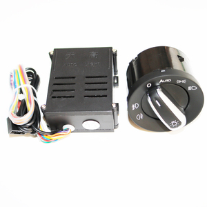 Image 1 - ELISHASTAR Auto Light Sensor With Headlight Switch Leaving Home Coming Home Function For  Polo Golf 4 Passat B5 5ND941431B