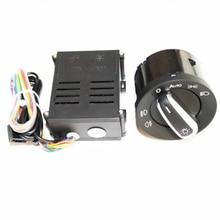 ELISHASTAR Sensor de luz para coche, interruptor de faro para salir de casa, función de inicio para Polo Golf 4 Passat B5 5ND941431B