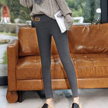 Casual Leggings Women Printed Ankle-length Pants Span Ladies High Waist Keep Warm Long Pants Leggins Mujer Женские Штаны Winter 2
