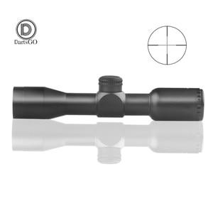 Image 1 - Dartsgo 무료 배송 사냥 전술 4x32 소총 광학 스나이퍼 범위 밀 도트 조명 레티클 원피스 튜브 시력