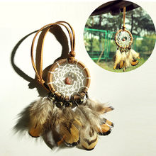 Indischen Stil feather dream catcher diy dekoration nordic hause zimmer/kindergarten/kinder decor dreamcatcher kinder zimmer JU29(China)