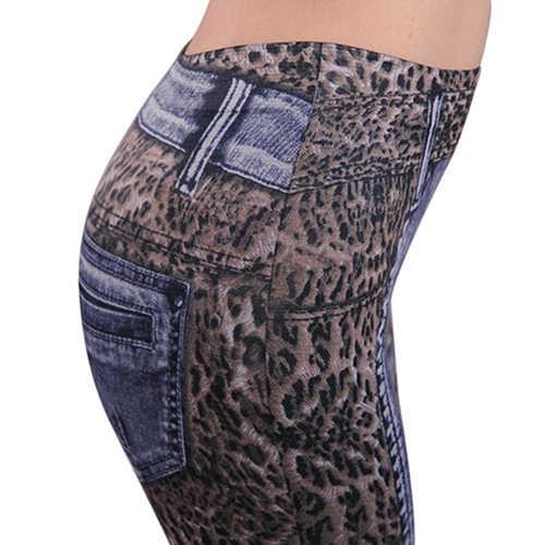 Moda kadın bayan pantolonu leopar ince sağlıklı uyar dar kot günlük pantolon moda rahat uygun bahar sonbahar kış