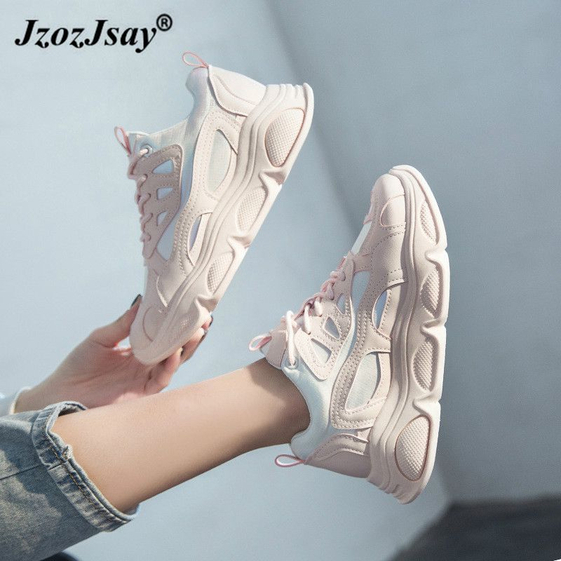 Shoes Women Platform Sneakers Fashion 2020 Woman Casual Shoes White Black Spring Chunky Sneakers Zapatos De Mujer Basket Femme