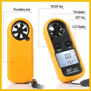 Image 4 - RZ Anemometer Portable Anemometro Thermometer GM816 Wind Speed Gauge Meter Windmeter 30m/s LCD Digital Hand held Anemometer