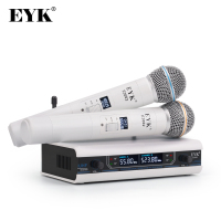 EYK E3002 Professionelle UHF Karaoke Drahtlose Mikrofon System Long Range Dual Metall Handheld Mic Sender mit MUTE Funktion
