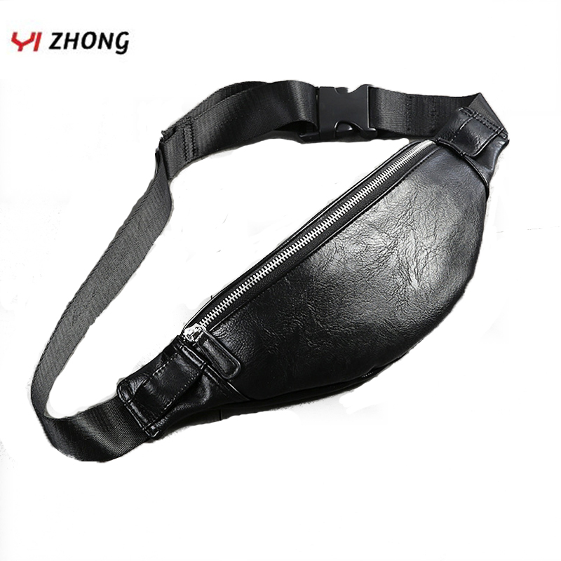 Luxury Leather Multi-functional Fanny Pack Waterproof Waistband Leisure Large Capacity Waist Bag Chest Bag For Men Banana Bags