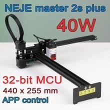 2020 NEJE Master 2S Plus 255x440mm professionnel Machine de gravure Laser, découpeur Laser-Lightburn-Bluetooth-contrôle App