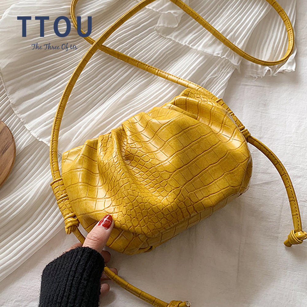 2020 Luxury Cloud Bag Soft Leather Female Day Clutches Bags Summer Casual Fashion Designer Dumpling Messenger Handbag And Purse