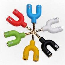 Наушники микрофон сплиттер-адаптеры 3,5 мм штекер 2 Двойной 3,5 мм Женский для телефона ноутбука PS4 гарнитура микрофон MP3