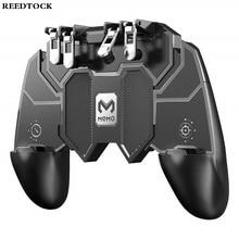 Six Fingers PUBG Game Controller Gamepad Metal Trigger Shooting Free Fire Gamepad Joystick For Mobile Phone