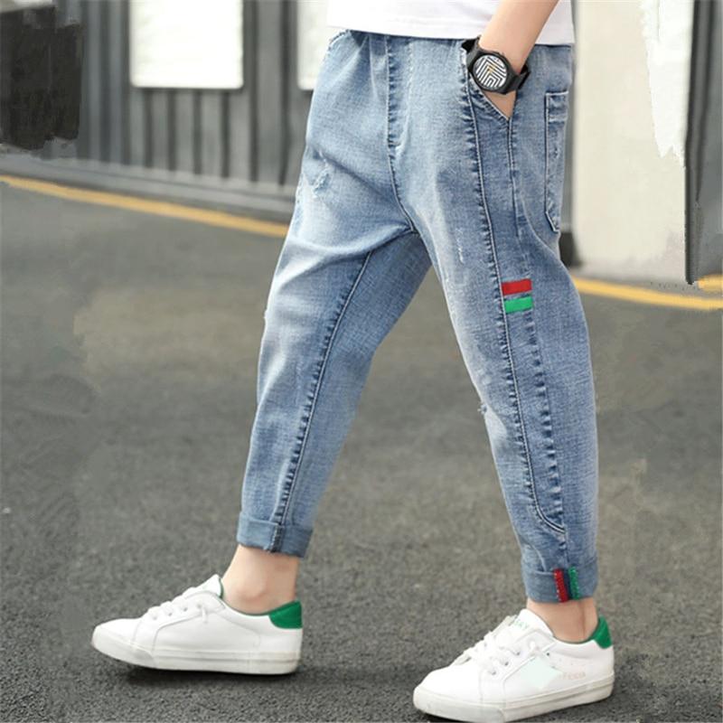 IENENS Child Boys Jeans Clothes Infant Kids Boy Denim Long Pants Casual Trousers
