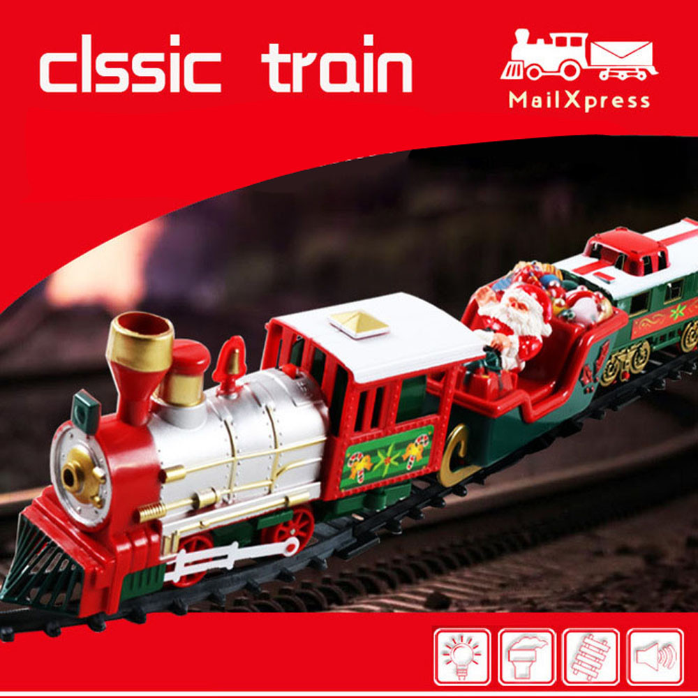 Kids CLASSIC SET TRAIN  2M Track Engine Light /& Sound Present Boys Childrens Toy