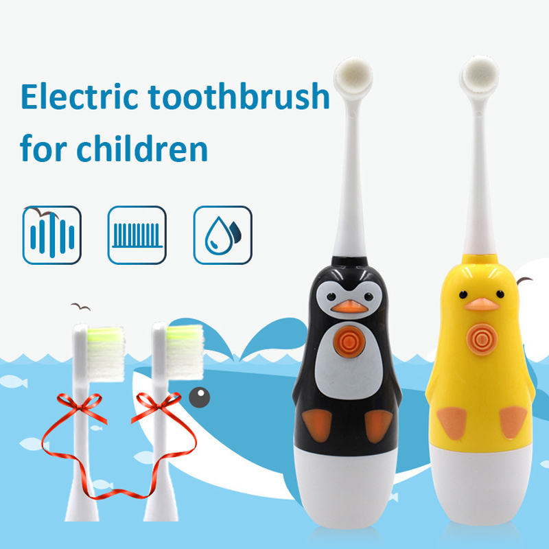 electric toothbrush kids replacement brush heads Protect children's oral hygiene 2 to 10 years CE 3C safety certificate SU145 image