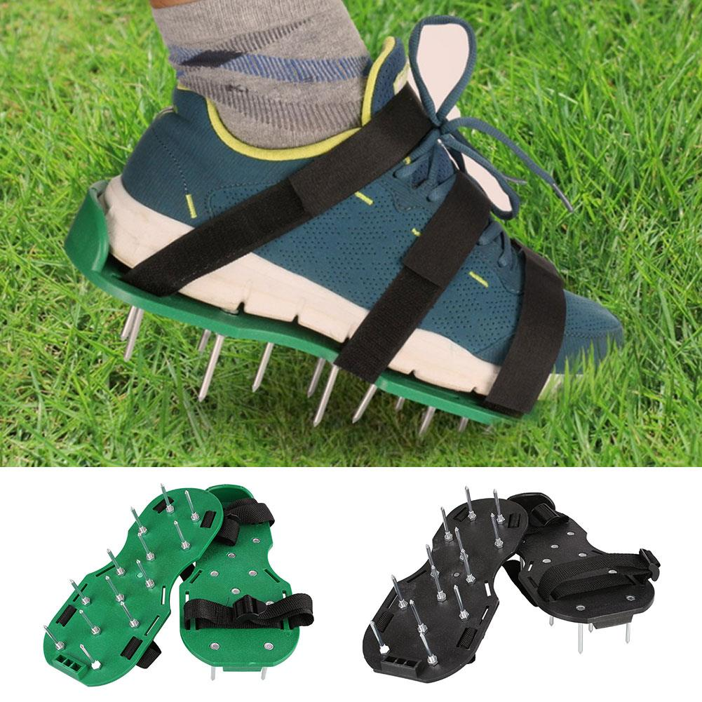 Lawn Aerator Sod Grass Breathe Care 26 Spikes Aerating Straps Shoes Sandals Tool|Hiking Shoes| |  - title=