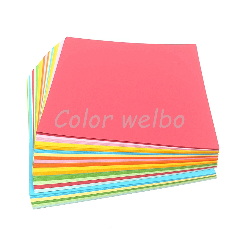 100Pc Origami Square Hand Paper Double Sided Coloured Sheets Scrapbooking 8CM