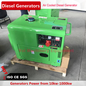 6kw silent diesel generator air cooling for home use single phase