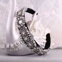 TRiXY S237-FG 3 Colors Gorgeous Bridal Headpieces Hair Jewelry Bridal Headband New Baroque Headband Luxury Rhinestone Headband