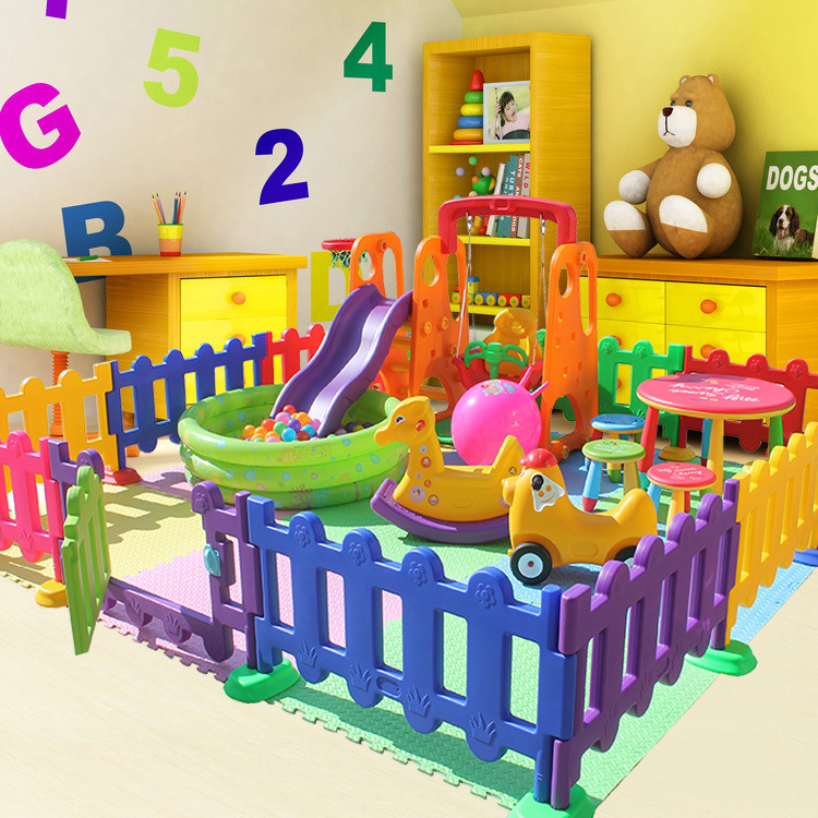 Special Offer Plastic Railing Kindergarten Guardrail Children Gaming Fence Baby Fence 360-Degree Rotating Isolation