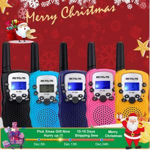 Image 1 - RETEVIS RT388 Walkie Talkie çocuklar telsiz 2 adet Mini İki yönlü radyo istasyonu PMR noel hediyesi/aile kullanımı/kamp 100 800M