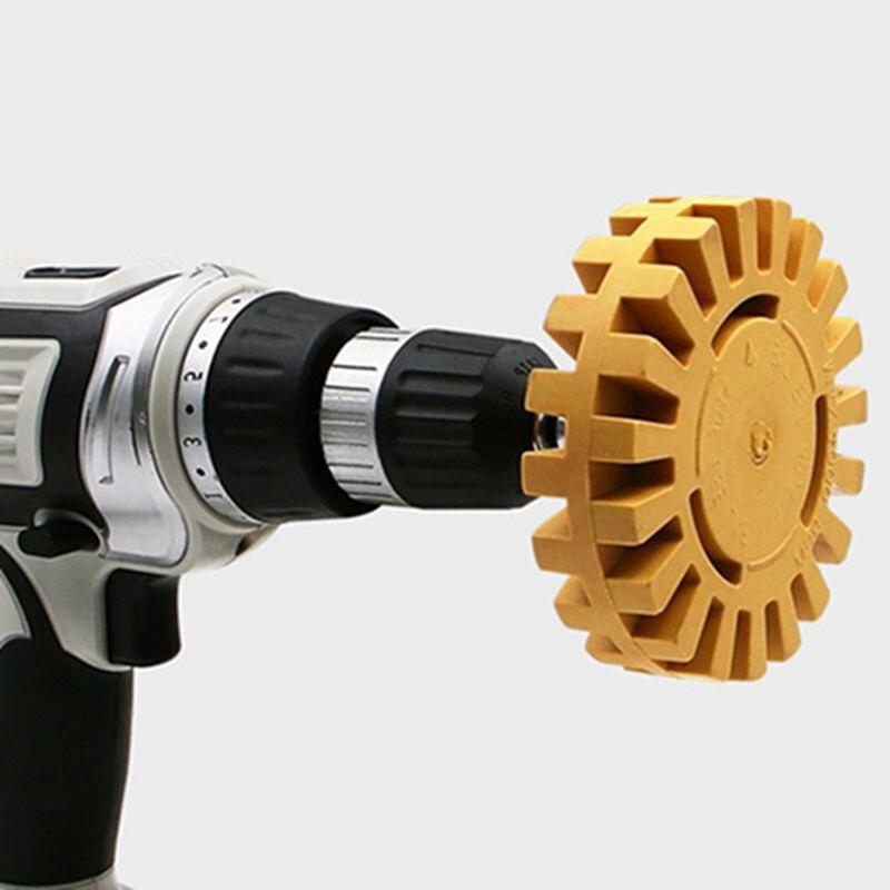 4 Inch Pneumatic Wheel Degumming Disc Tool Rubber Wheel Car Tire Grinding Polishing
