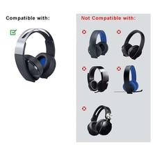 Ear Pad For sony Platinum Wireless Headset PlayStation 4 PS4 7.1 CECHYA 0090 Headphones Accessories Blue Headband Earpads Black