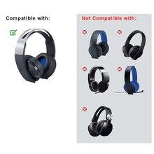 Kulaklık yastığı için sony platin kablosuz kulaklık PlayStation 4 PS4 7.1 CECHYA 0090 kulaklık aksesuarları mavi kafa bandı kulak yastıkları siyah