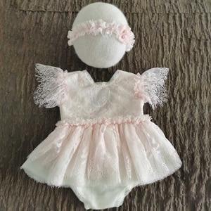 KLV/2 шт./компл. реквизит для фотосессии новорожденных, детский наряд, хлопковая шапка + комбинезон, комбинезон для младенцев, костюм для съемо...